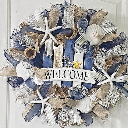 Nautical Mesh Wreath
