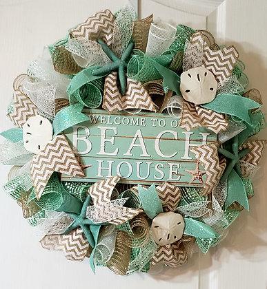 Beach Mesh Wreath