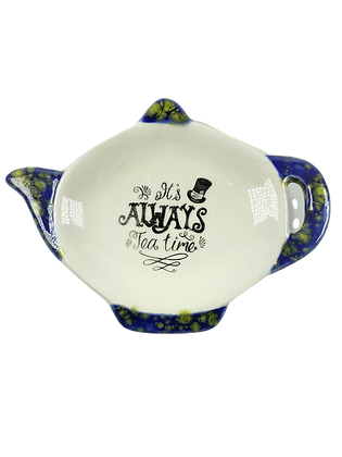 Tea Bag Teaspoon Holder Ceramic - It's Always Tea Time