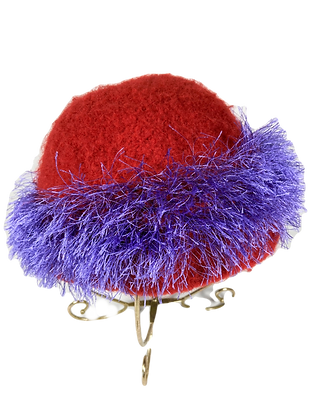 Felted Hat - Red and Purple