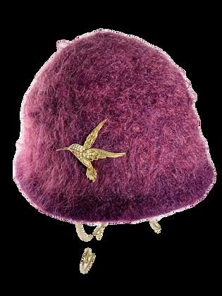 Felted Hat - Burgundy
