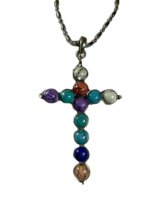 Multi-Color Cross Necklace