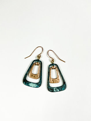 Cooper and Patina Earrings