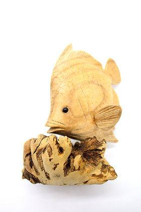 Hand Carved Wooden Fish