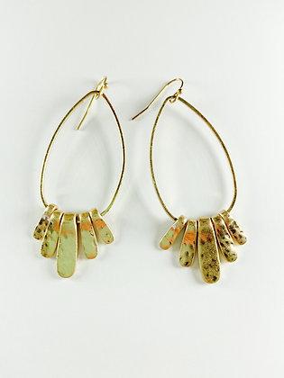 Gold Long Hoop Earrings