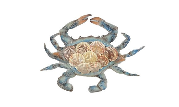 Metal Crab Wall Art with Shells