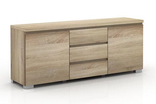 Elara 2 Door 3 Drawers Buffet - Light Sonoma Oak