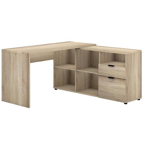 Rico 2 Drawer 5 Compartment Executive Desk - Light Sonoma Oak