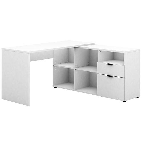 Rico 2 Drawer 5 Compartment Executive Desk - White
