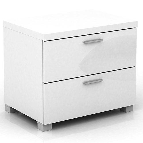 Elisha High Gloss 2 Drawer Side Table