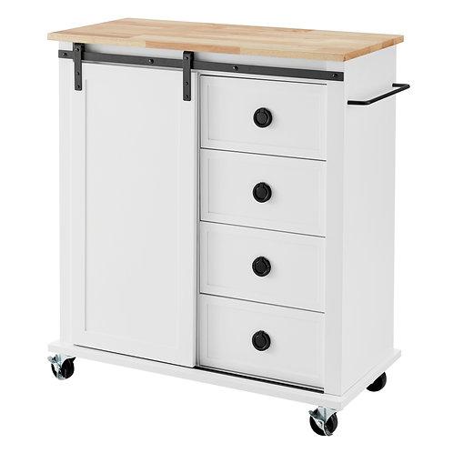 South Hampton 4 Drawer 1 Door Kitchen Trolley