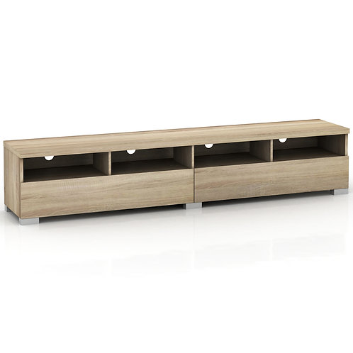 Elara 4 Compartment 2 Drawers Entertainment Unit - Light Sonoma Oak