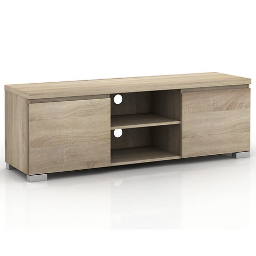 Elara 2 Compartment 2 Door Entertainment Unit - Light Sonoma Oak