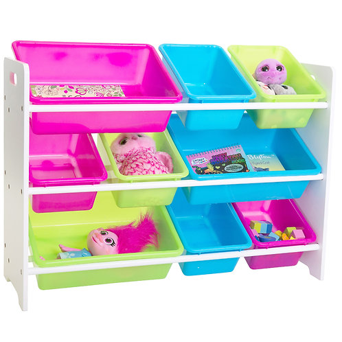 Mia Kids Storage Unit white 9 Bins