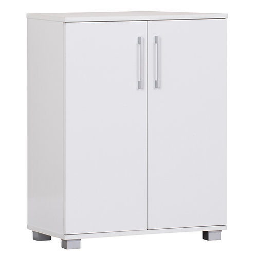 Multi-Purpose Cupboard 2 Door w/Shelves Low Style