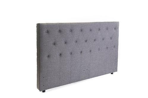 Ada Freestanding Bedhead Queen Size - Fabric Grey