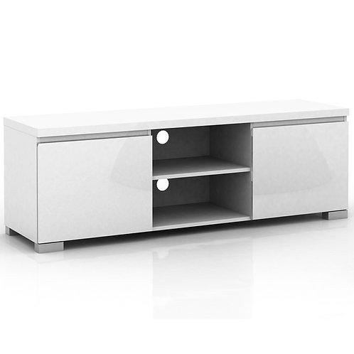 Elara High Gloss 2 Compartment 2 Door Entertainment Unit - White