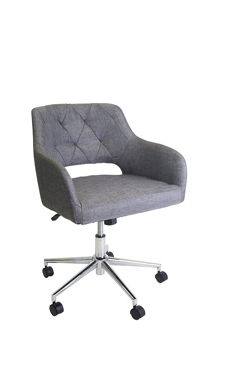 Edwin Classic Tuft Executive Office Chair - Charcoal