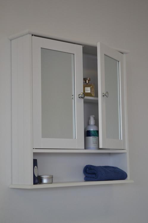 Maine Double Door Mirrored Bathroom Cabinet