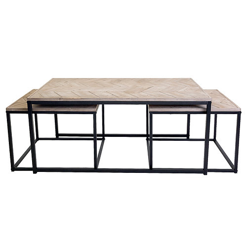Avoca Chevron Nested Set of 3 Tables