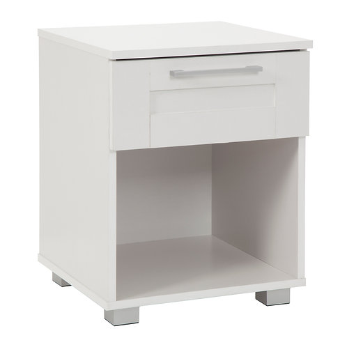 Montreal Table Bedside 1 Drawer White