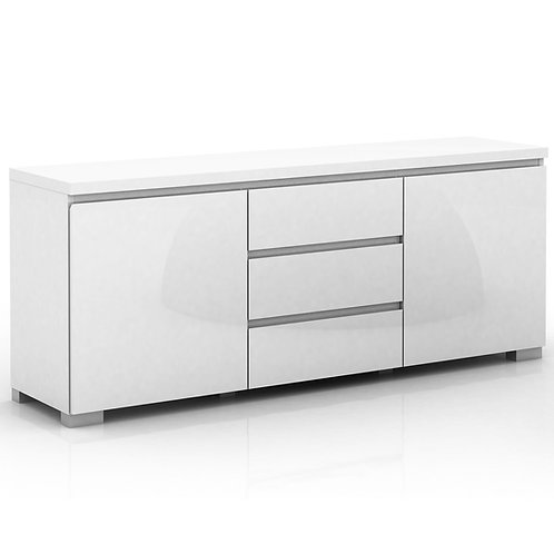 Elara High Gloss 2 Door 3 Drawers Buffet - White