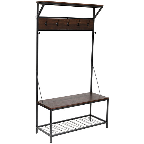 Industrial Look Storage Entry Stand