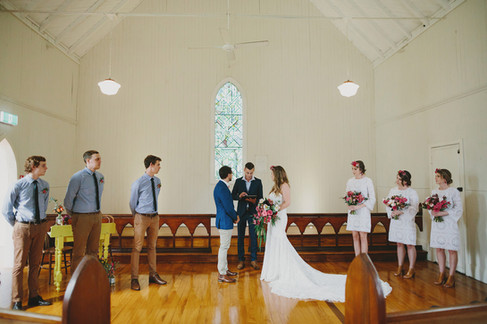 Chris and Elle are married in Federal church
