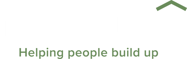 the house logo transparent green & white