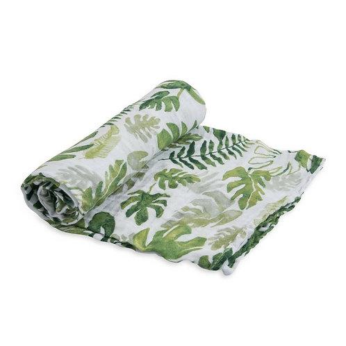 Muselina Tropical Leaf