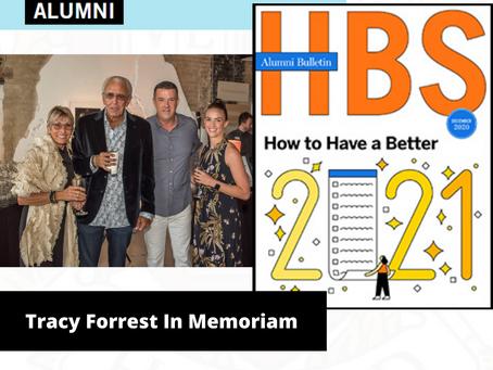 Harvard School of Business - Alumnus Tracy Forrest In Memoriam