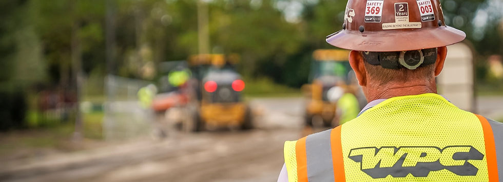 Man in hard hat on a construction jobsite