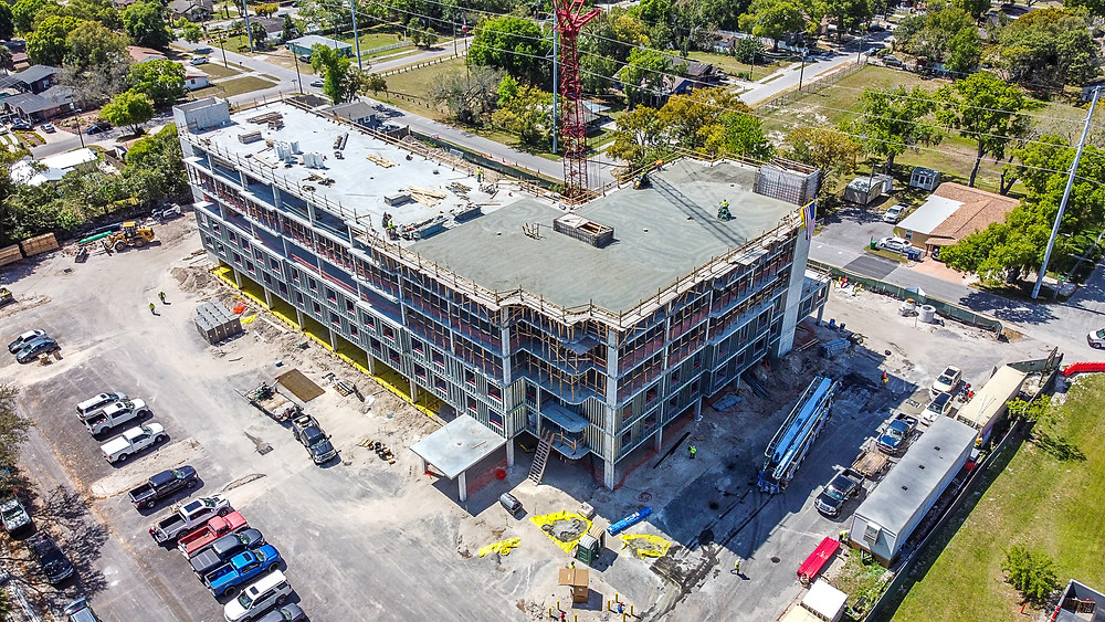 Affordable Senior Housing - construction site in Florida.