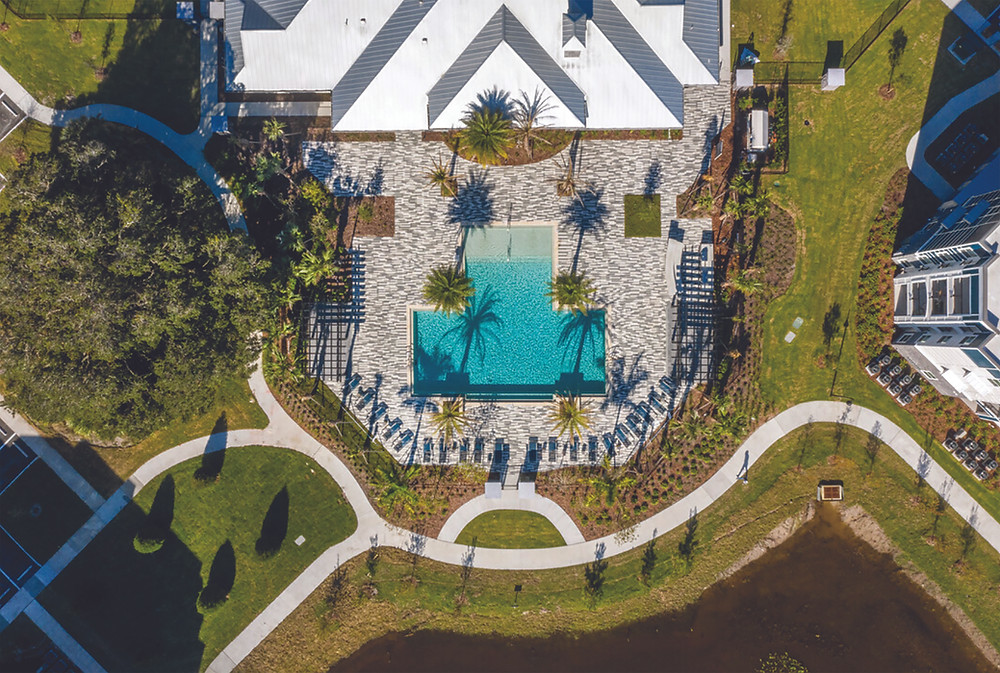 Aerial view of a Resort Style Community in Fast-Growing Sarasota County