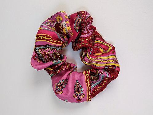 Vintage Pink Silk Scrunchie
