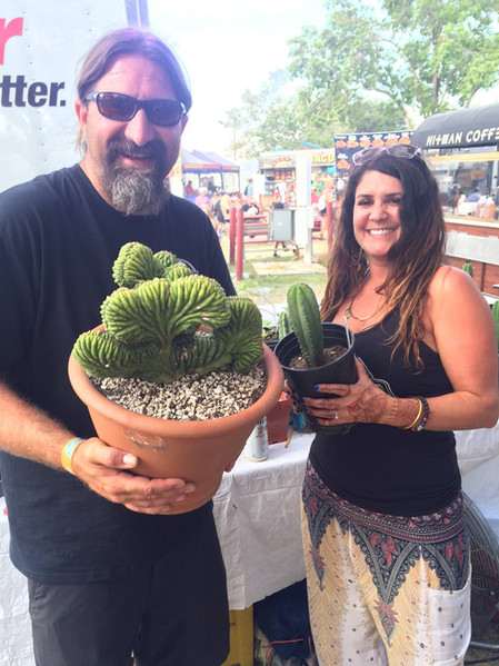 Acquiring some new cacti at Chalice 2017