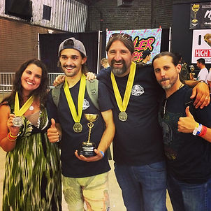 Crockett and Brian celebrate some more Cannabis Cup wins with Bobby & April.