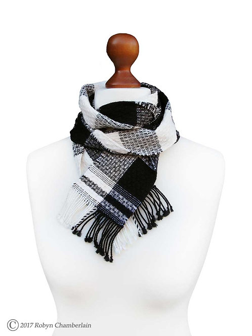 Cold Weather Checkmate Hand Woven Scarf