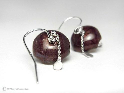 Lilac Lightening » Enamel Umbrella Earrings