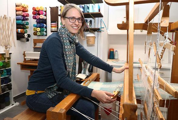 Robyn Chamberlain Besitzerin von Craft Pigeon Handweberei