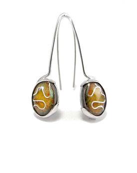 Sterling silver and enamel earrings - Enamel Elements Collection