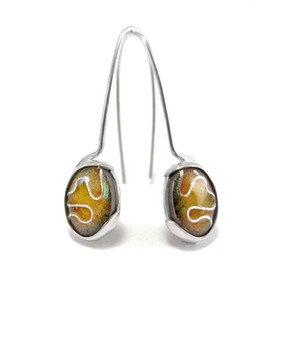 Sterling silver and enamel earrings - Enamel Elements Collection