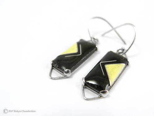 Opposite Directions » Enamel Earrings