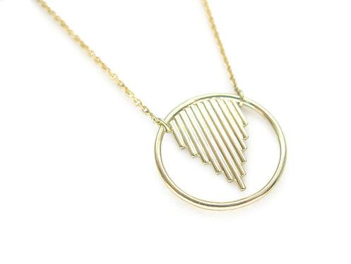 Oracle - Minimalist 18k gold necklace