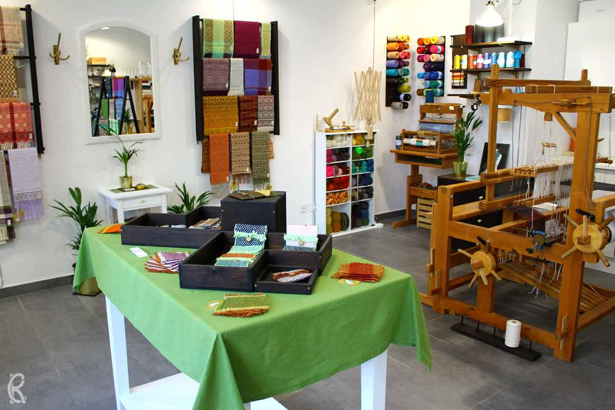 Craft Pigeon Weavery - Inside the store and weavery in the Capa Haus Leipzig