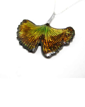Sterling silver and enamel necklace -Modern Nature Collection