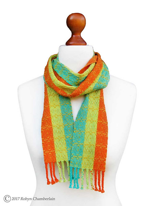 Pineapple Party » Organic Handwoven Scarf