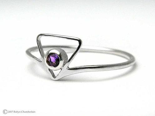 Amethyst Triade » Sterling-Silber und Amethyst Ring