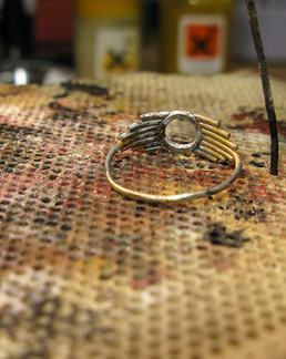 Hand-made recycled sterling silver ring