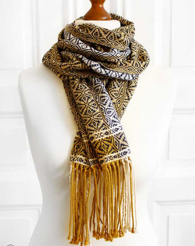 Hand-woven organic scarf - made with organic cotton and organic linen